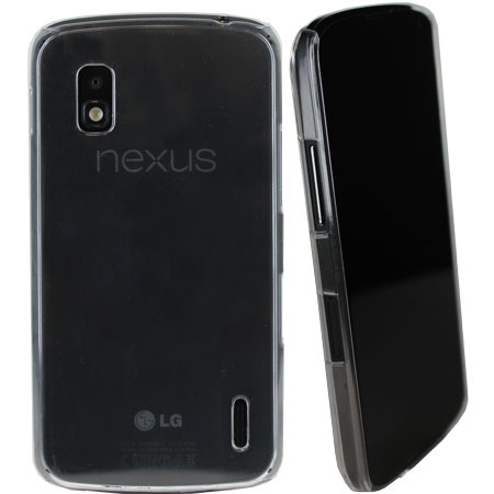 Crystal Hard Back Case for  Google Nexus 4 - Clear