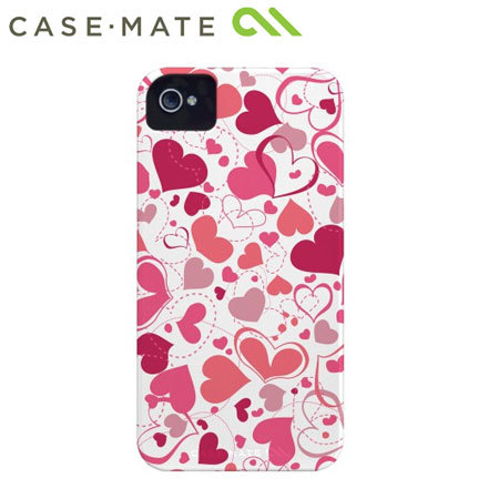 Case-Mate Barely There for iPhone 4 / 4S - White Heart