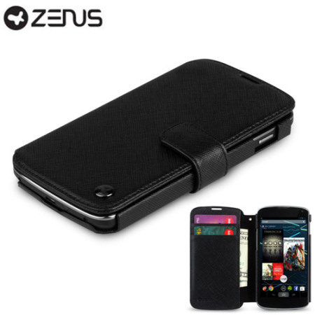 Zenus Google Nexus 4 Minimal Diary Series Case - Black