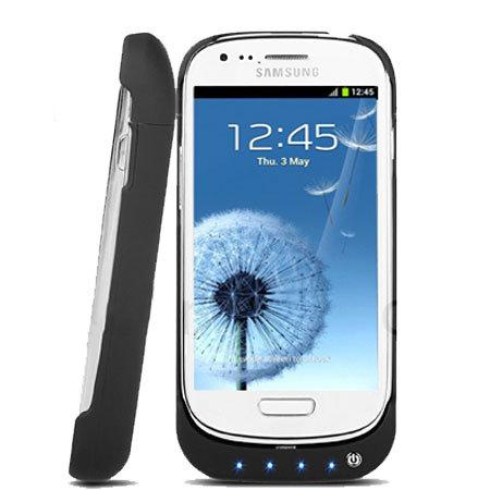 Power Jacket for Samsung Galaxy S3 Mini - 2000mAh - Black