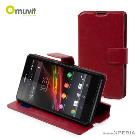 Sony Xperia Z Slim 'n Stand Case - Red