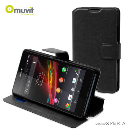 Muvit Slim 'n Stand Case for Sony Xperia Z  - Black