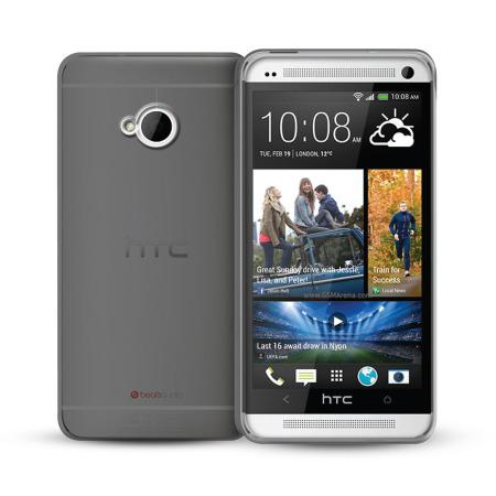 FlexiShield Case for HTC One M7 - Smoke Black