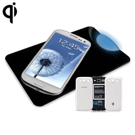 Samsung Galaxy S3 Qi Wireless Charging Plate Kit - Black / White