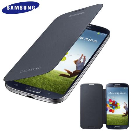 genuine samsung galaxy s4 flip case cover black