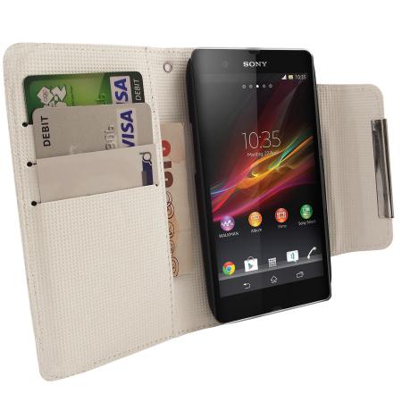 Sony Xperia Z Wallet Case - White