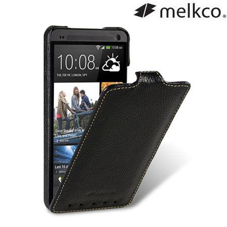 Melkco Premium Leather Flip Case for HTC One 2013 - Black