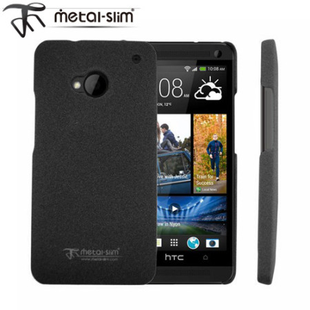 Metal-Slim Sand Blast Protective Case for HTC One M7 - Grey