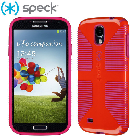 buy online f31bf 4f6df Speck CandyShell Grip for Samsung Galaxy S4 - Poppy Red
