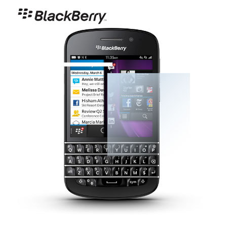 Genuine BlackBerry Q10 Screen Protector - Twin Pack - ACC-54982-201