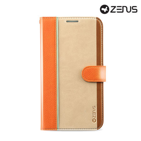 Zenus Masstige Fast Track Samsung Galaxy S4 Diary Series Case - Orange