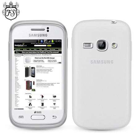 FlexiShield Case for Samsung Galaxy Fame - Frost White