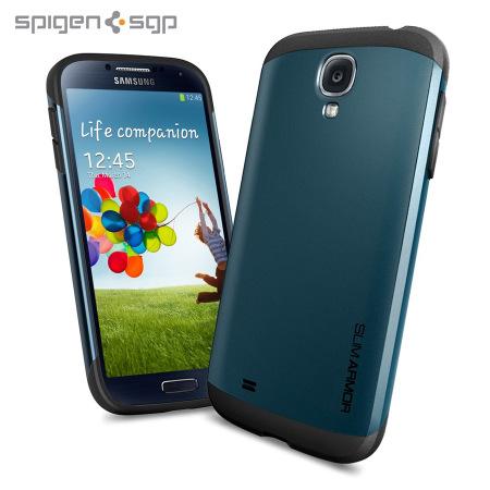 reputable site c9236 487a7 Spigen SGP Slim Armour Case for Samsung Galaxy S4 - Slate