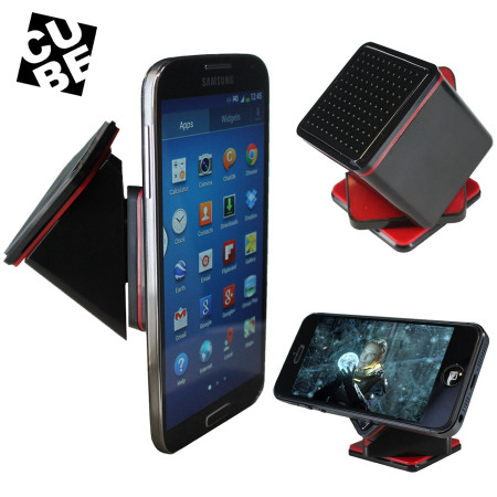 Cube Universal Car And Desk Smartphone Holder Black