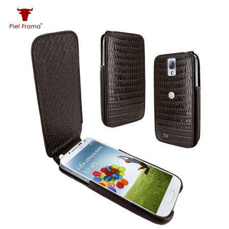 Piel Frama iMagnum Lizard Case For Samsung Galaxy S4 - Brown