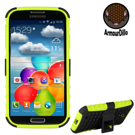 ArmourDillo Hybrid Protective Case for Galaxy S4 - Atomic Green
