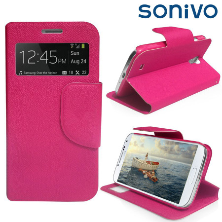 Sonivo Sneak Peek Flip Case for Samsung Galaxy S4 - Pink