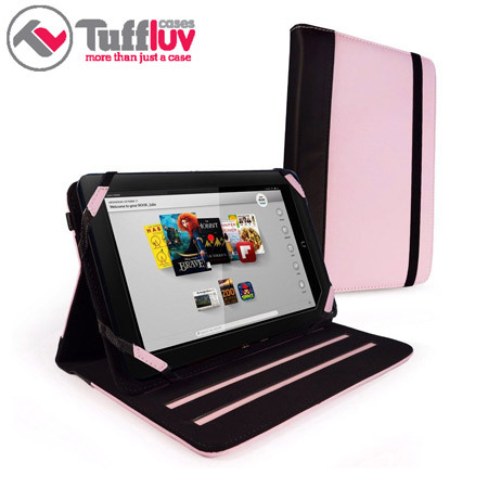 Tuff-Luv Slim-Stand Case for Kindle Fire HD 8.9 - Pink