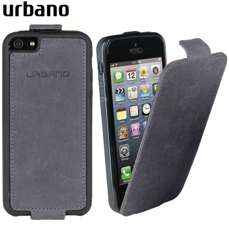 iphone 5s flip case urbano genuine leather flip for iphone 5s 5 grey 14794