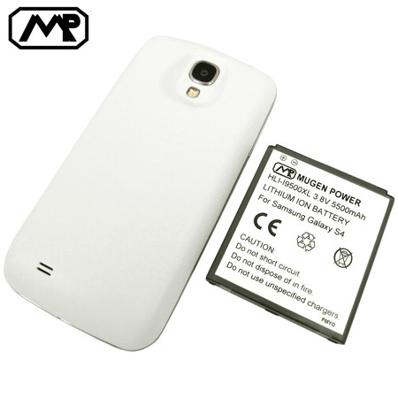 Mugen Samsung Galaxy S4 Extended Battery (5500mAh) - White