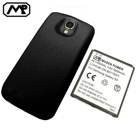 huge selection of 9a6ac 764cf Mugen Samsung Galaxy S4 Extended Battery (5500mAh) - Black