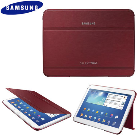 official samsung galaxy tab 3 10 1 book cover garnet red. Black Bedroom Furniture Sets. Home Design Ideas