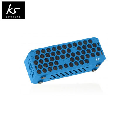 Kitsound Hive Bluetooth Wireless Portable Stereo Speaker - Blue