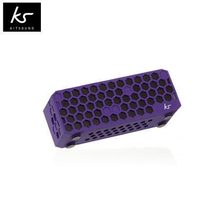 Kitsound Hive Bluetooth Wireless Portable Stereo Speaker - Purple