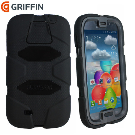 samsung galaxy s4 phone black. griffin survivor case for samsung galaxy s4 - black phone