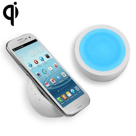 Support de Chargement Sans Fil QI Orb - Blanc/Bleu
