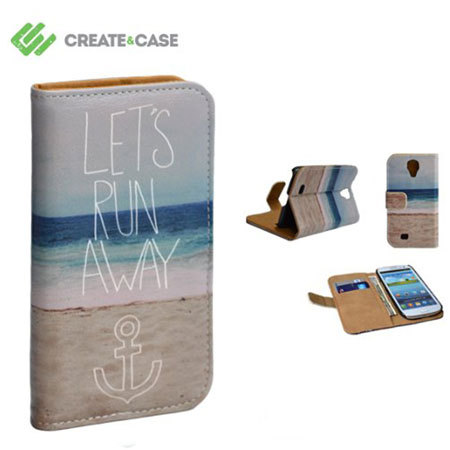 Create And Case Samsung Galaxy S4 Book Case - Let's Run Away