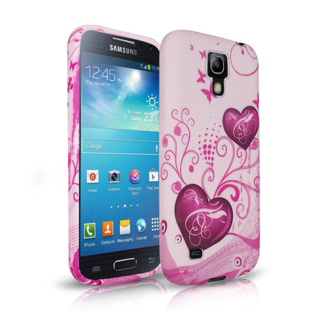 c74aaa6ff9b Silicone Case for Samsung Galaxy S4 Mini - Hearts