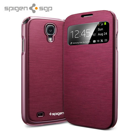 Spigen Ultra Flip View Cover for Samsung Galaxy S4 - Metallic Red