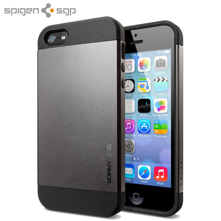 spigen iphone 5s case spigen slim armor for iphone 5s 5 gun metal 16178