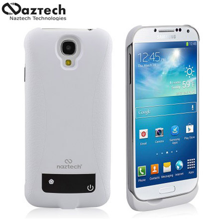 Naztech 3000mAh Power Case for Samsung Galaxy S4 - White