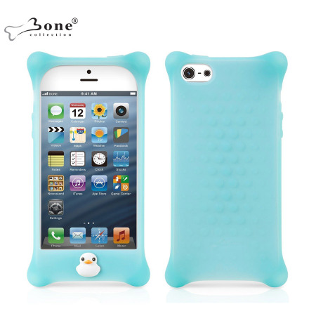 Bone Collection Bubble Case For Apple iPhone 5 - Aqua