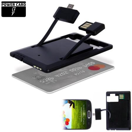 PowerCard Slim Micro USB Power Bank Charger - 400mAh