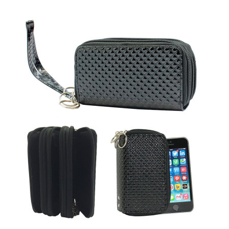 SD Tabletwear Phone Purse with Multiple Pockets - Black