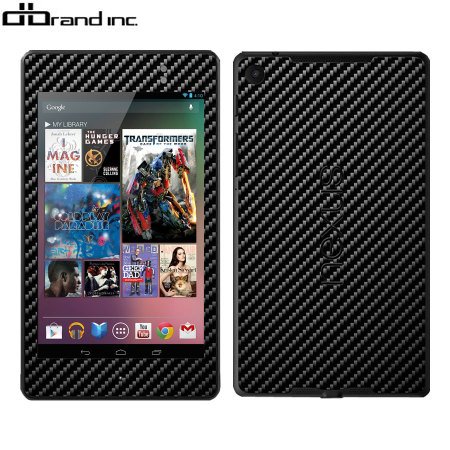 dbrand Textured Cover Skin for Google Nexus 7 2013 - Carbon Fibre