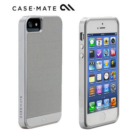 official photos ad7d4 3bd7d Case-Mate Carbon Fibre Case for iPhone 5S/5 - Silver