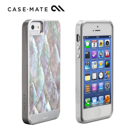 new concept eefbf f2114 Case-Mate Mother of Pearl Case for iPhone 5S/5 - Silver