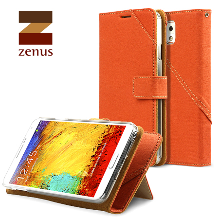 Zenus Masstige Cambridge Diary Case for Samsung Galaxy Note 3 - Orange