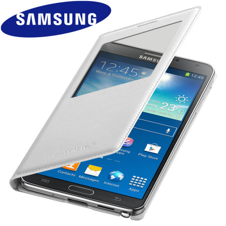 check out 7e39a bcbd3 Official Samsung Galaxy Note 3 S-View Premium Cover Case - White