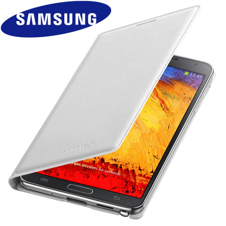Official Samsung Galaxy Note 3 Flip Wallet Cover - Classic White