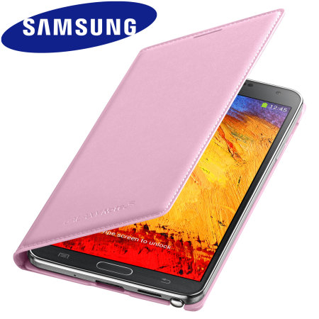 Official Samsung Galaxy Note 3 Flip Wallet Cover - Blush Pink