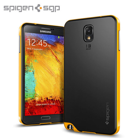 new arrival 6e3e2 bdf5c Spigen SGP Neo Hybrid Case for Samsung Galaxy Note 3 - Reventon Yellow