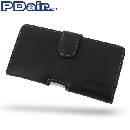 PDair Horizontal Leather Pouch Case for Sony Xperia Z1 - Black