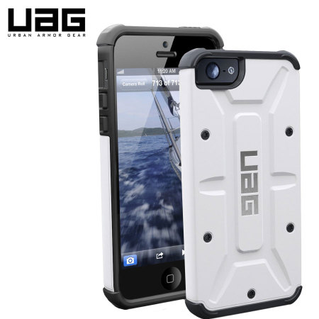 new style a9196 7bbdd UAG Protective Case for iPhone 5S/5 - White
