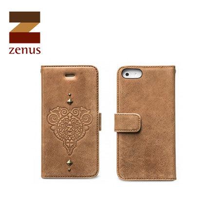 Zenus Prestige Retro Vintage Diary for iPhone 5S / 5 - Vintage Brown