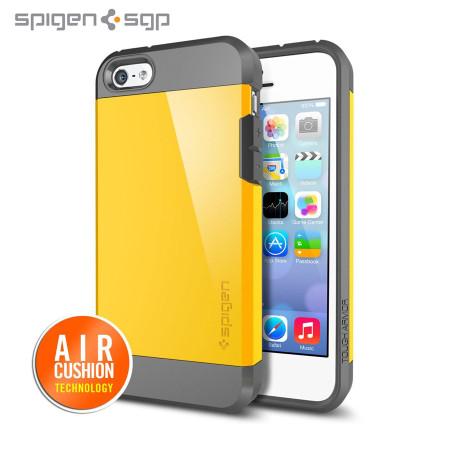 finest selection fb538 d041c Spigen SGP Tough Armor Case for iPhone 5C - Reventon Yellow